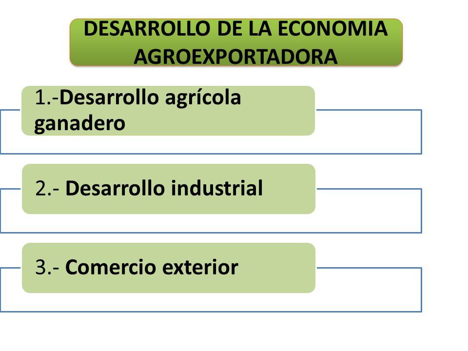 DESARROLLO DE LA ECONOMIA AGROEXPORTADORA