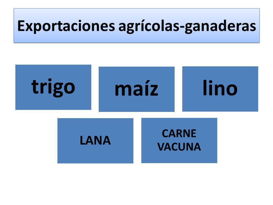Exportaciones agrícolas-ganaderas