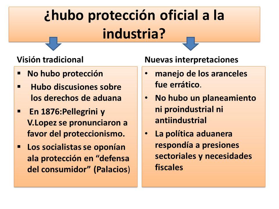 ¿hubo protección oficial a la industria