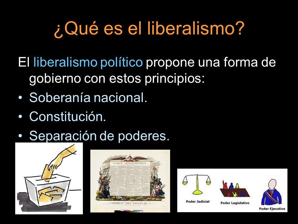¿Qué es el liberalismo El liberalismo político propone una forma de gobierno con estos principios: