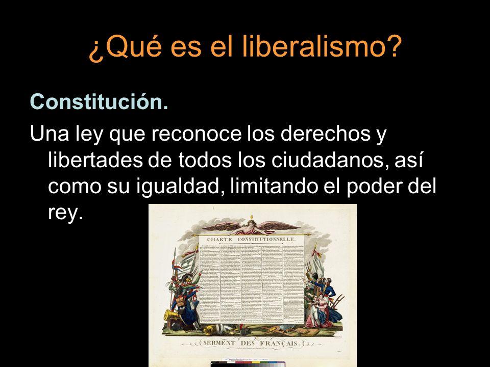 ¿Qué es el liberalismo Constitución.
