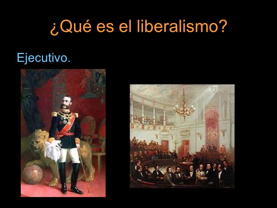 ¿Qué es el liberalismo Ejecutivo.