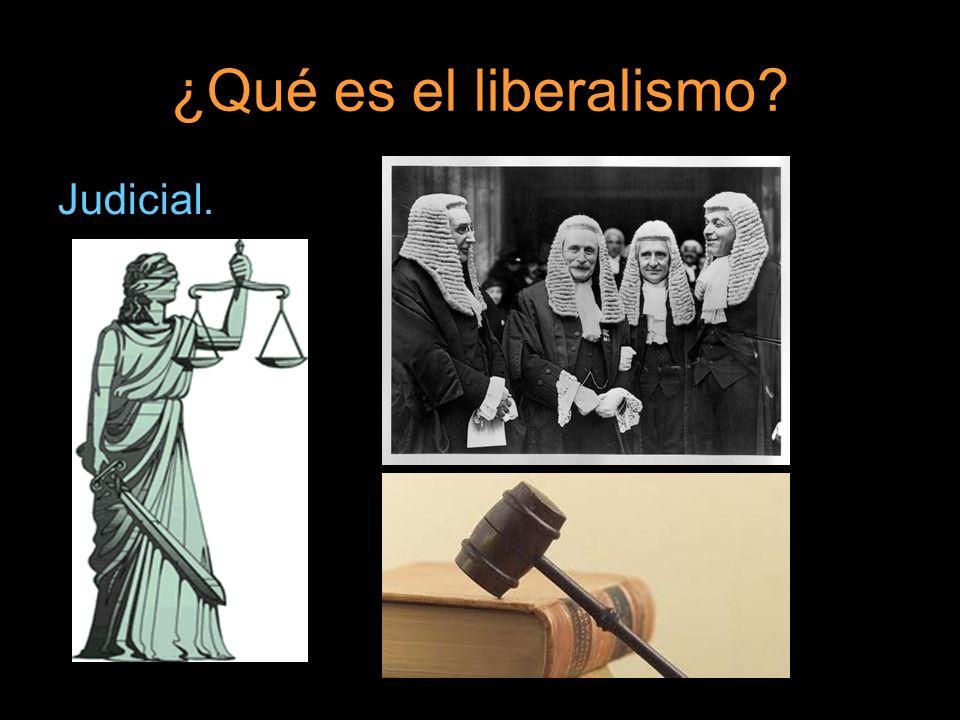 ¿Qué es el liberalismo Judicial.