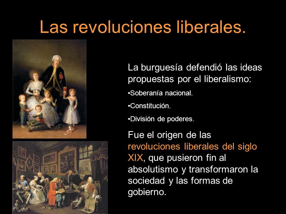Las revoluciones liberales.