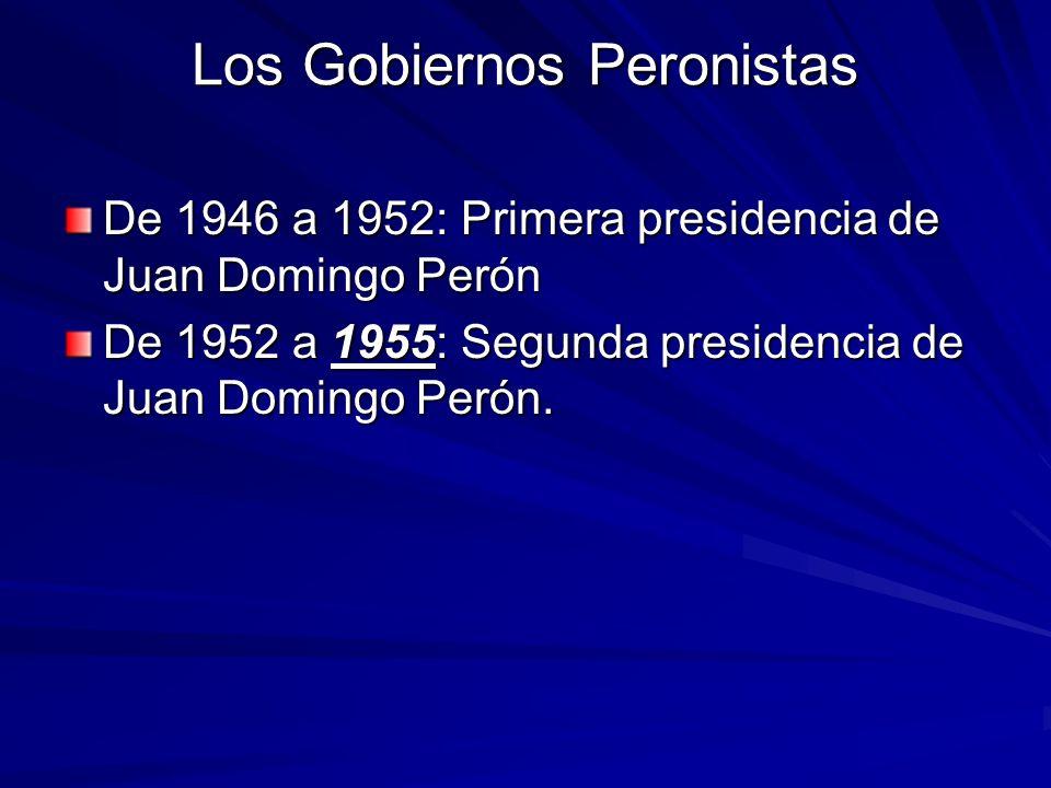 Los Gobiernos Peronistas