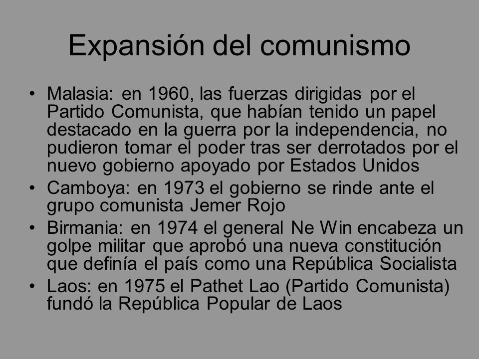 Expansión del comunismo