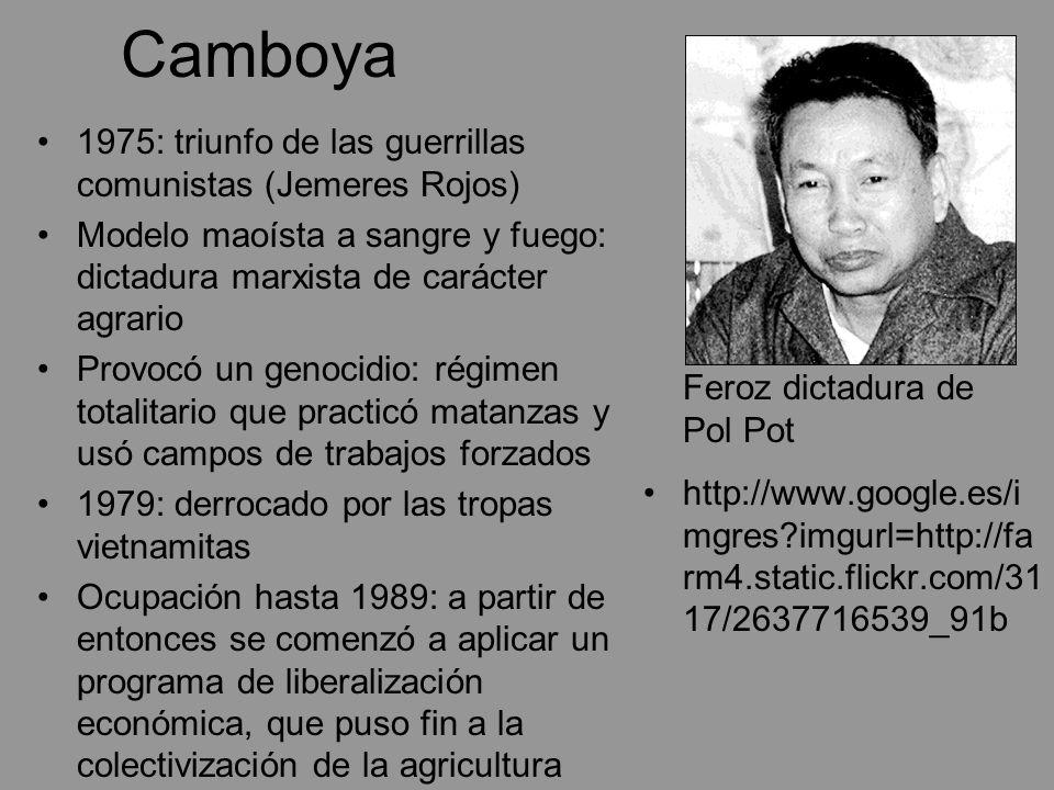 Camboya 1975: triunfo de las guerrillas comunistas (Jemeres Rojos)