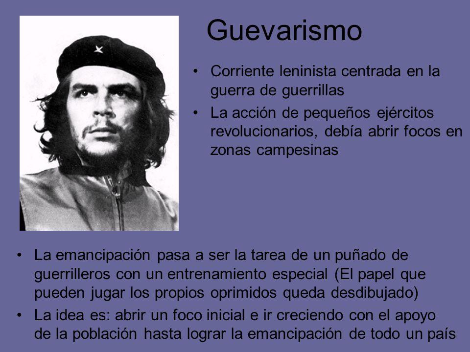 Guevarismo Corriente leninista centrada en la guerra de guerrillas