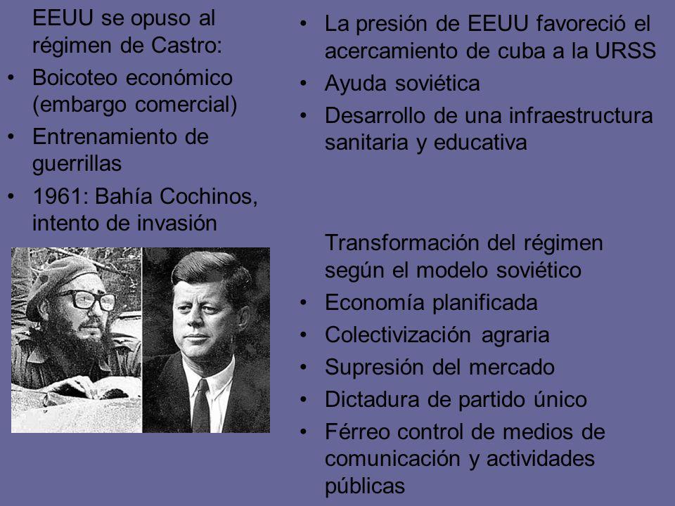 EEUU se opuso al régimen de Castro: