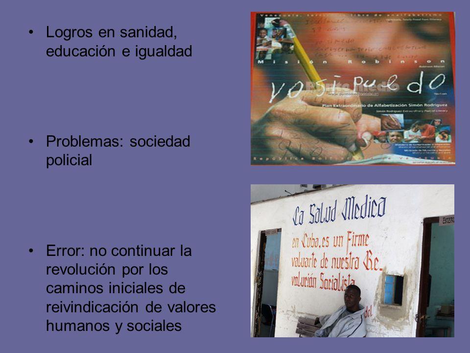 Logros en sanidad, educación e igualdad