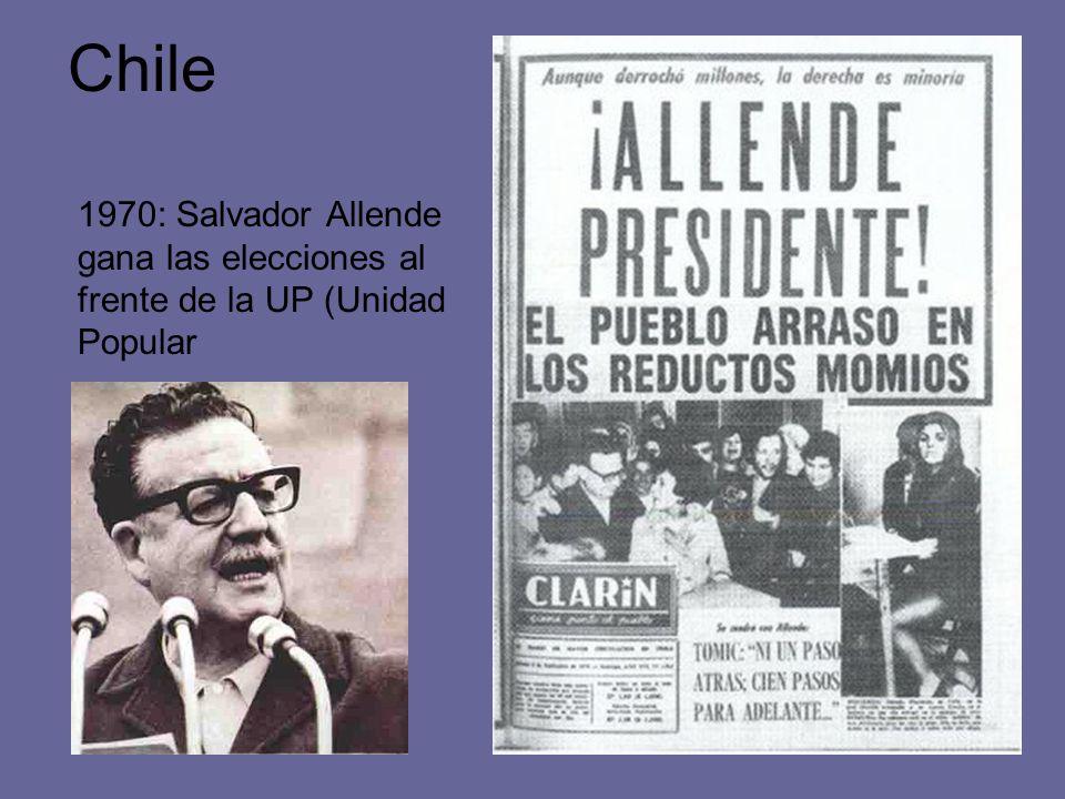 Chile 1970: Salvador Allende gana las elecciones al frente de la UP (Unidad Popular