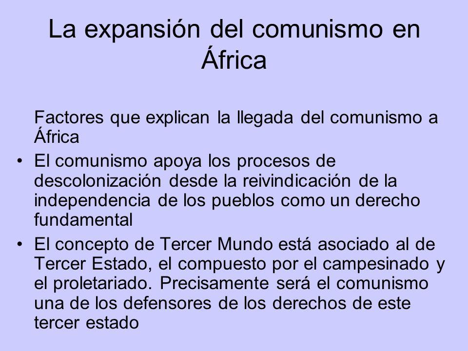 La expansión del comunismo en África