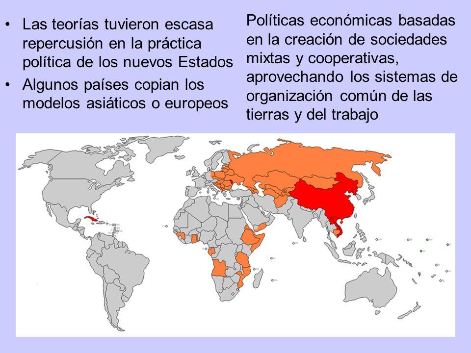Políticas económicas basadas en la creación de sociedades mixtas y cooperativas, aprovechando los sistemas de organización común de las tierras y del trabajo