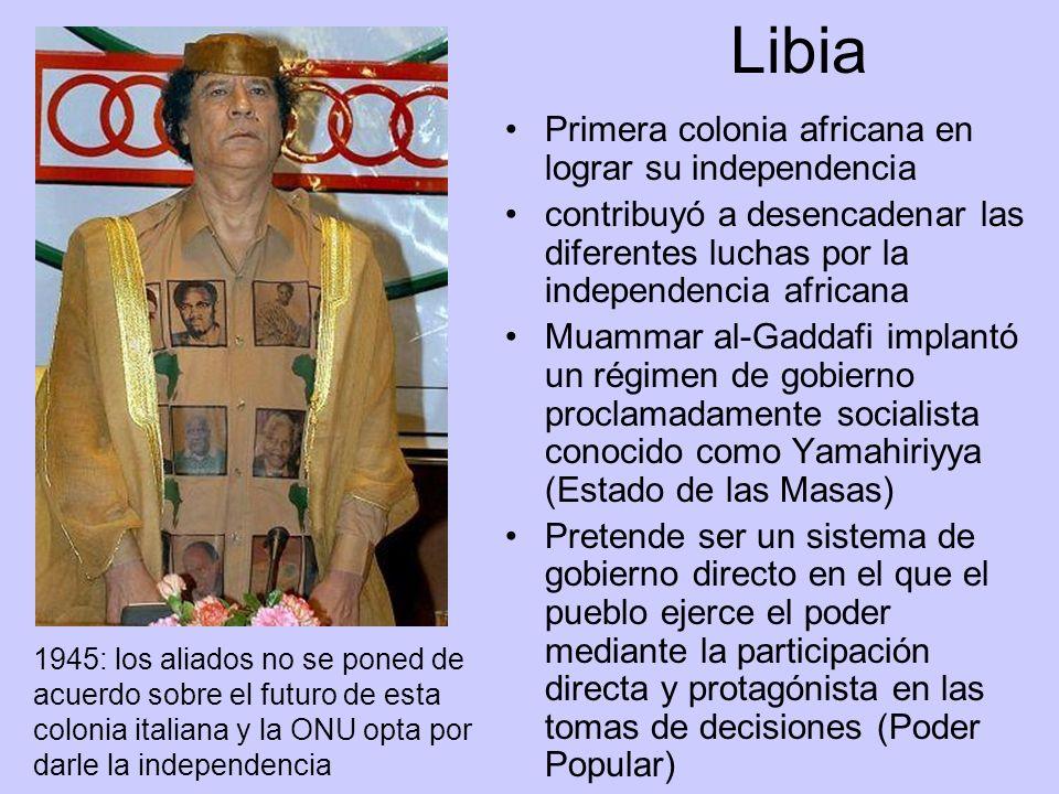 Libia Primera colonia africana en lograr su independencia