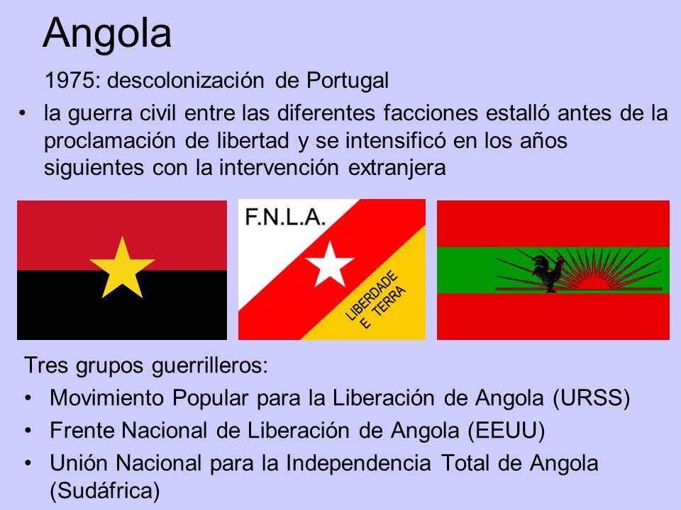 Angola 1975: descolonización de Portugal.