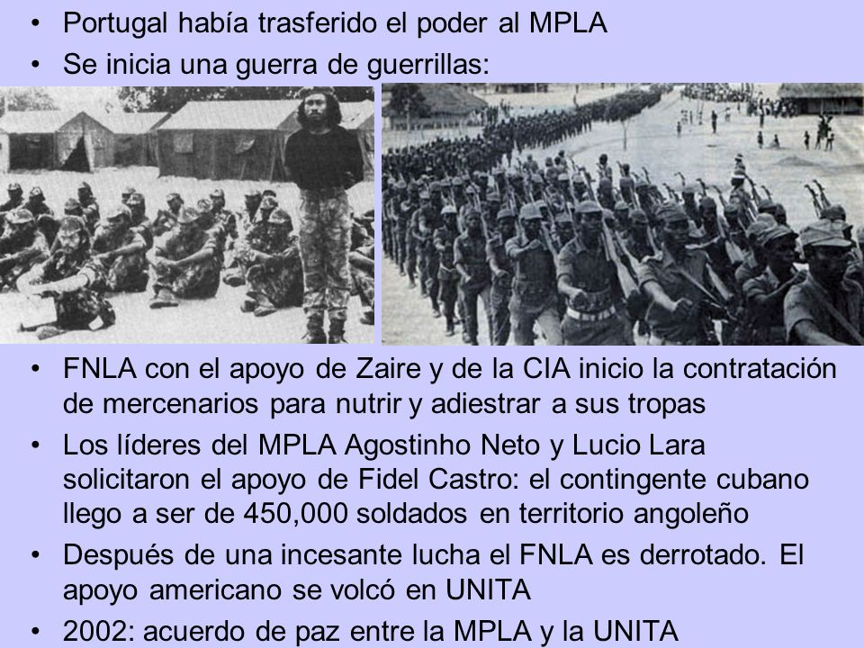 Portugal había trasferido el poder al MPLA