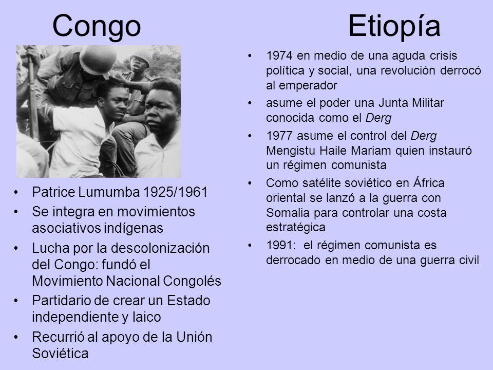 Congo Etiopía Patrice Lumumba 1925/1961