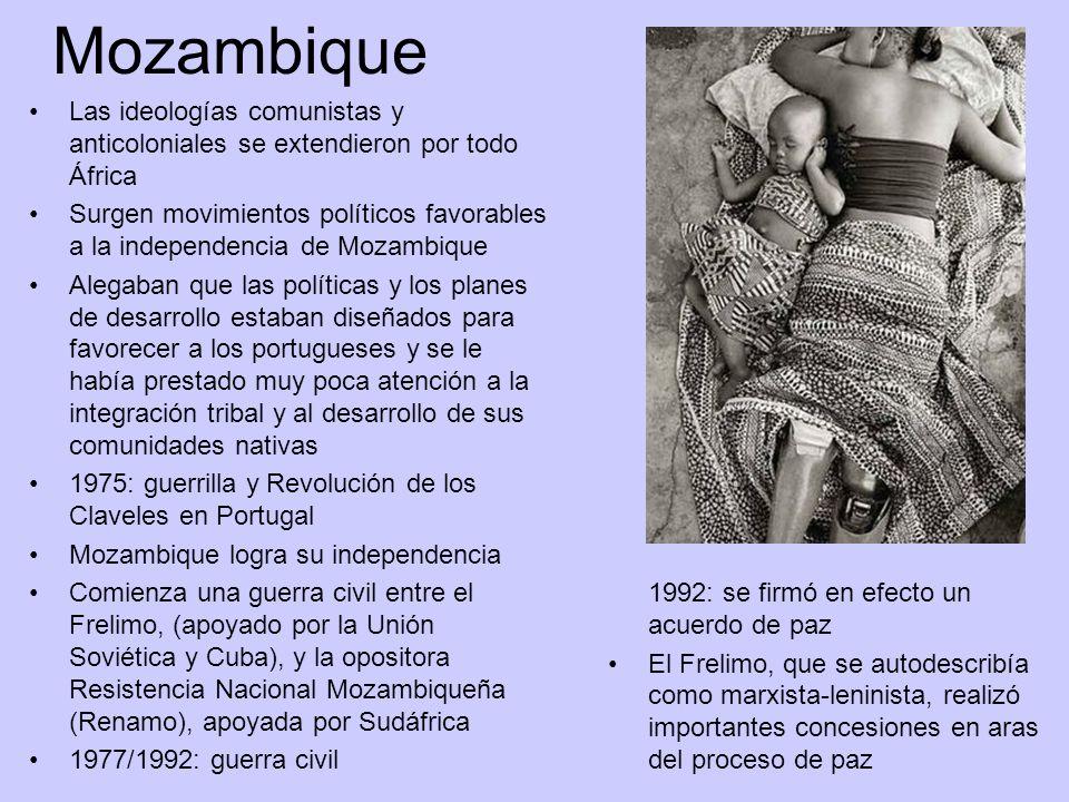 Mozambique Las ideologías comunistas y anticoloniales se extendieron por todo África.