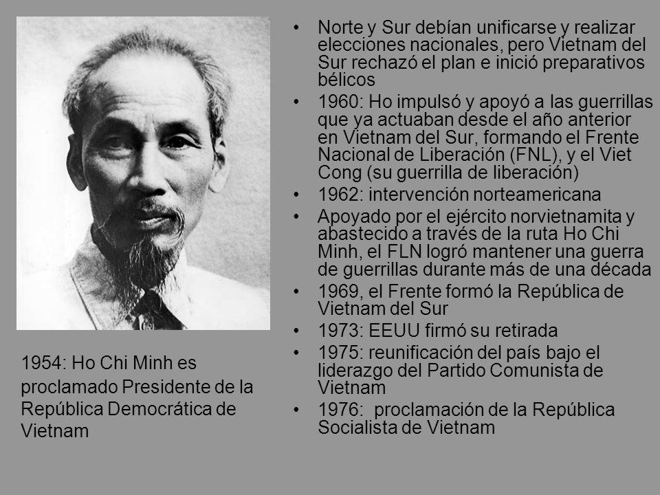 Norte y Sur debían unificarse y realizar elecciones nacionales, pero Vietnam del Sur rechazó el plan e inició preparativos bélicos