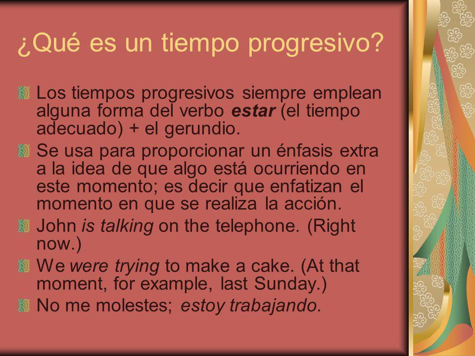 ¿Qué es un tiempo progresivo