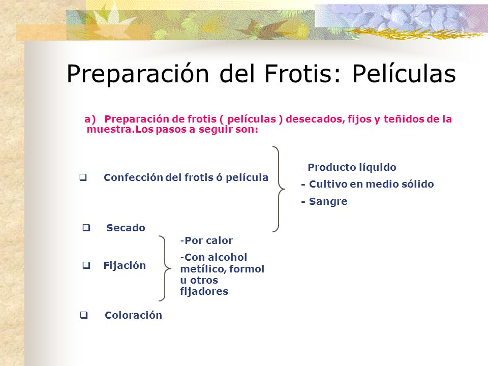 Preparación del Frotis: Películas