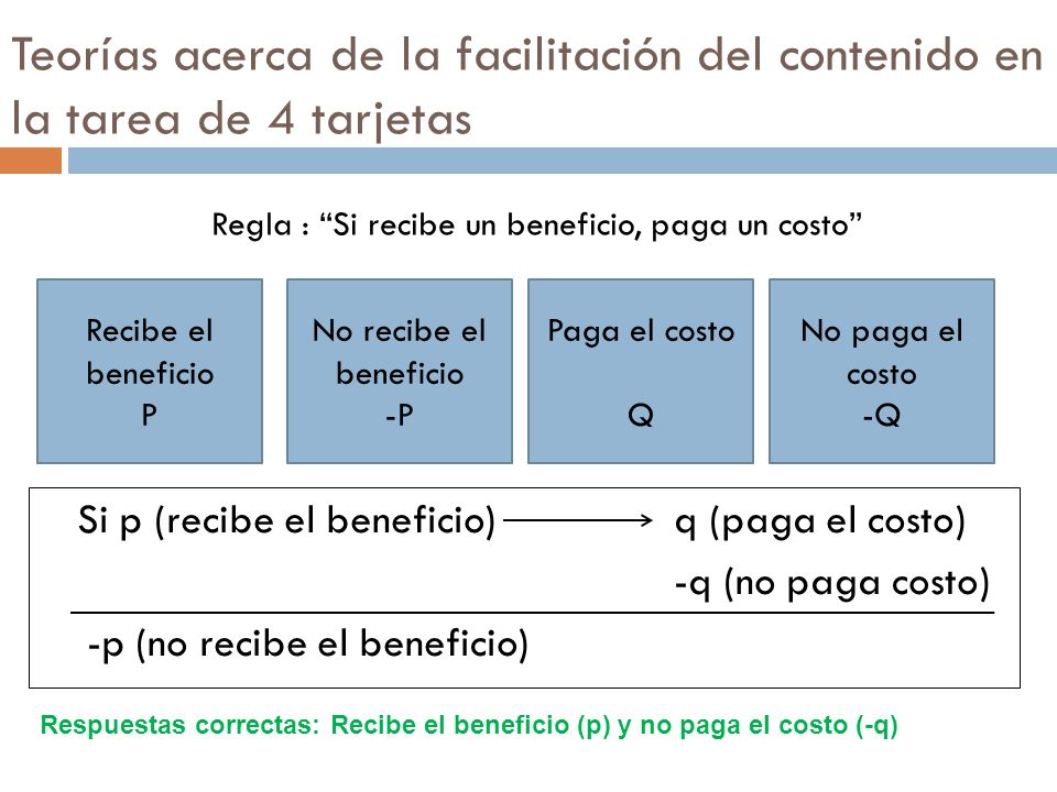 Regla : Si recibe un beneficio, paga un costo
