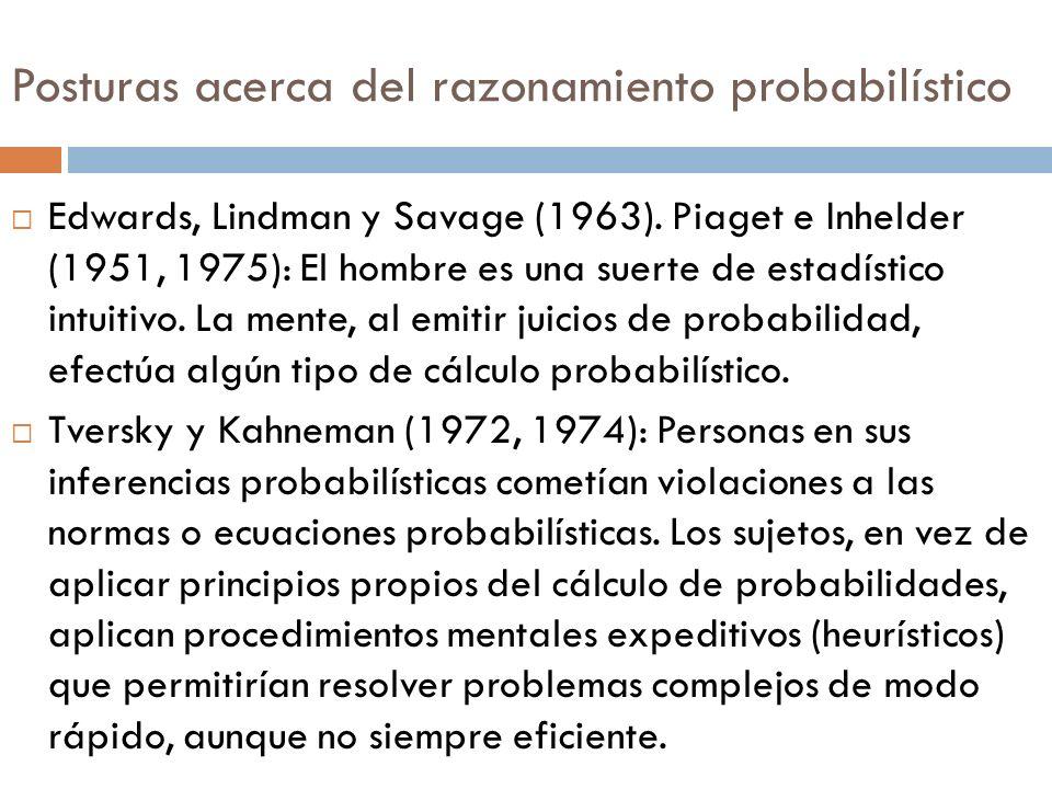 Posturas acerca del razonamiento probabilístico