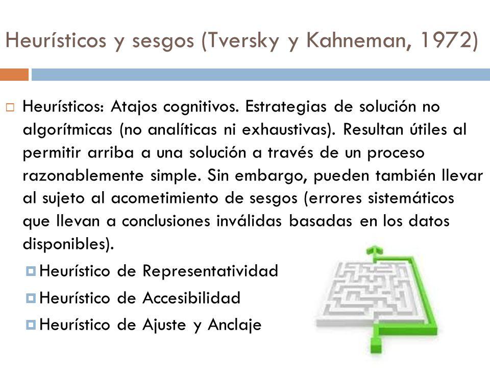 Heurísticos y sesgos (Tversky y Kahneman, 1972)