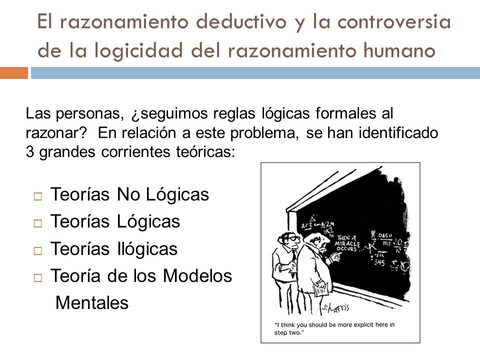El razonamiento deductivo y la controversia de la logicidad del razonamiento humano