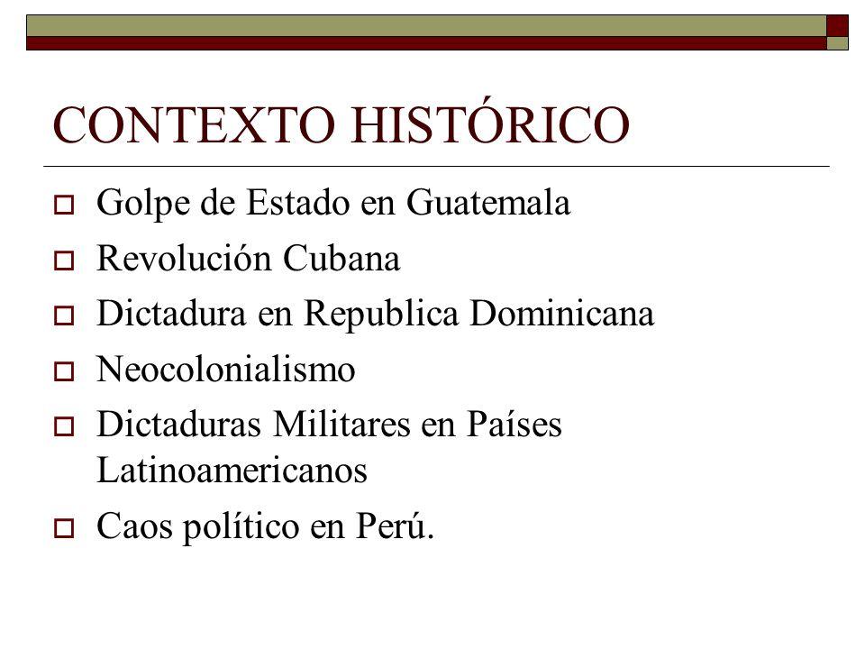 CONTEXTO HISTÓRICO Golpe de Estado en Guatemala Revolución Cubana
