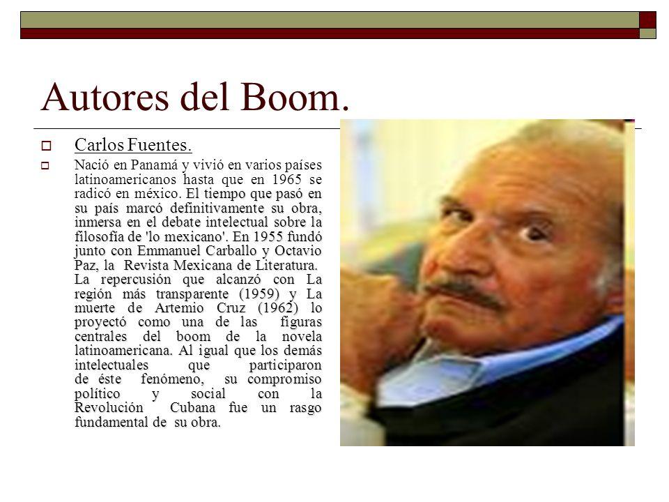 Autores del Boom. Carlos Fuentes.