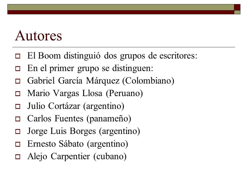 Autores El Boom distinguió dos grupos de escritores: