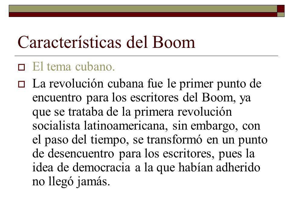 Características del Boom