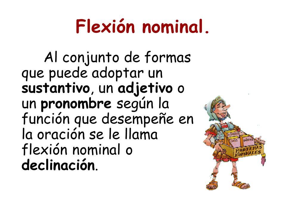 Flexión nominal.