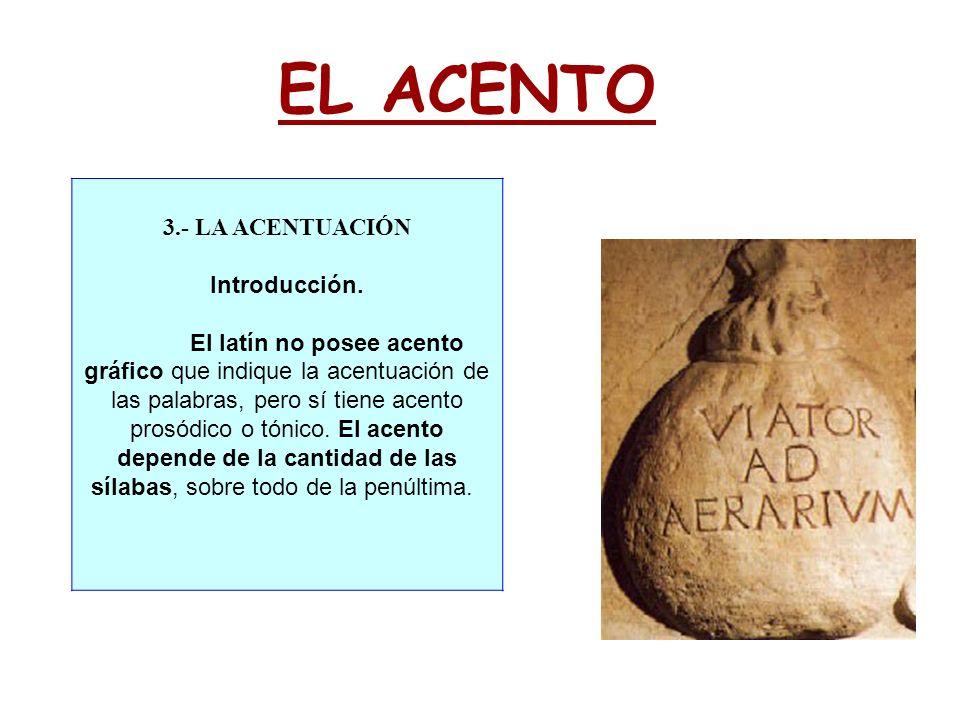 EL ACENTO 3.- LA ACENTUACIÓN Introducción.