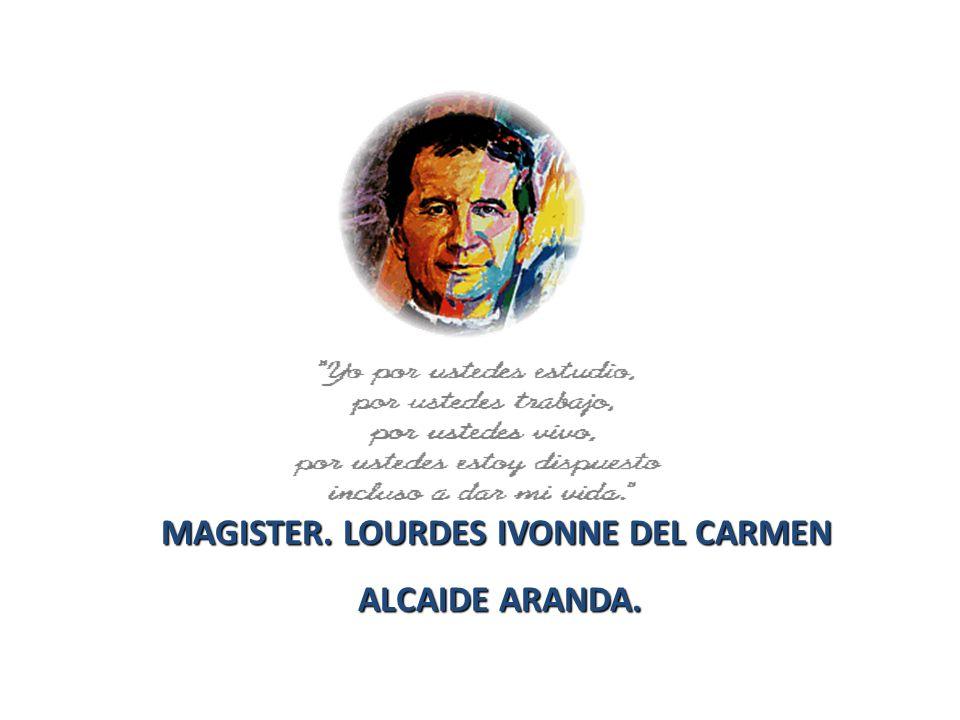 MAGISTER. LOURDES IVONNE DEL CARMEN