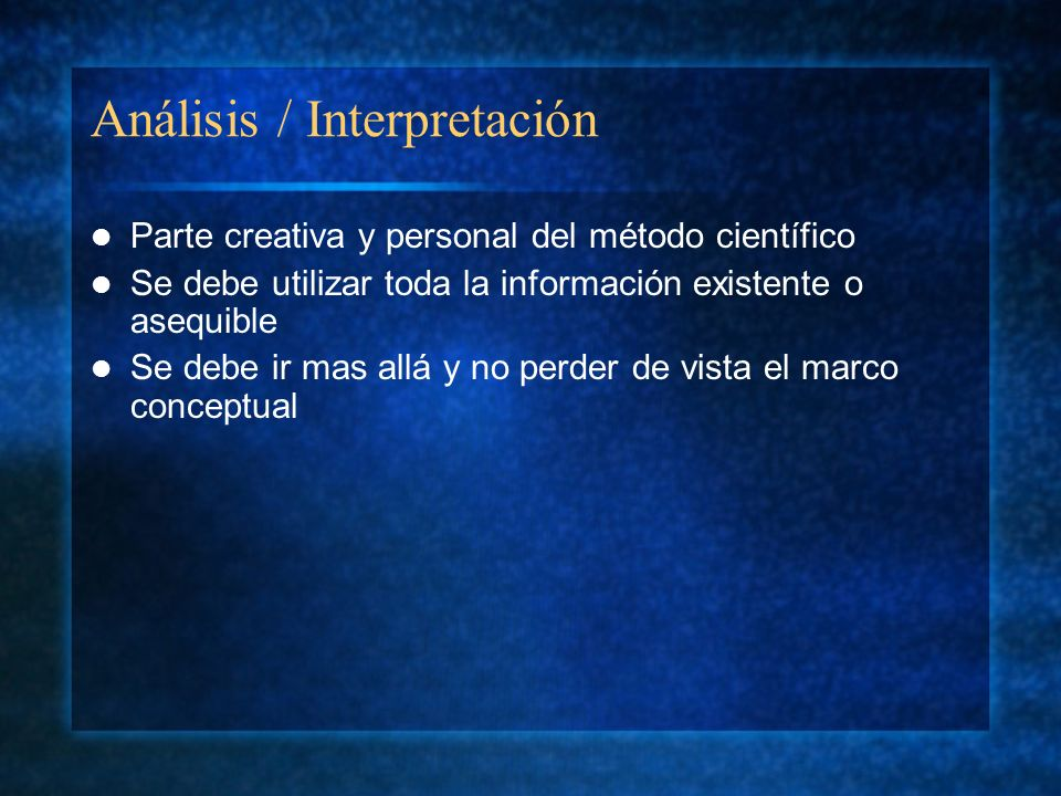 Análisis / Interpretación