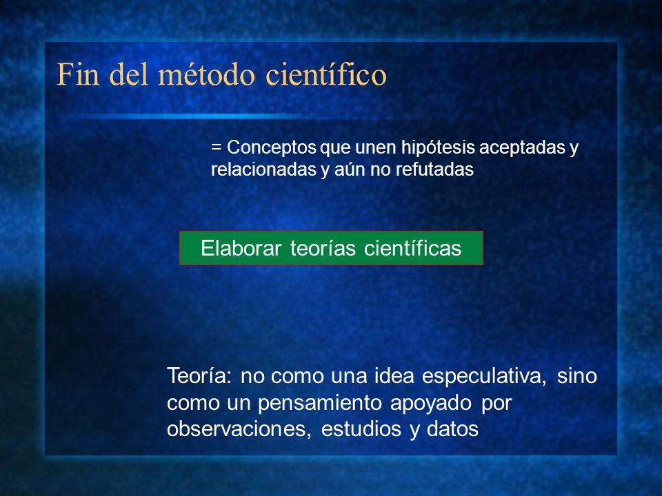Fin del método científico