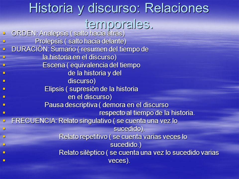 Historia y discurso: Relaciones temporales.