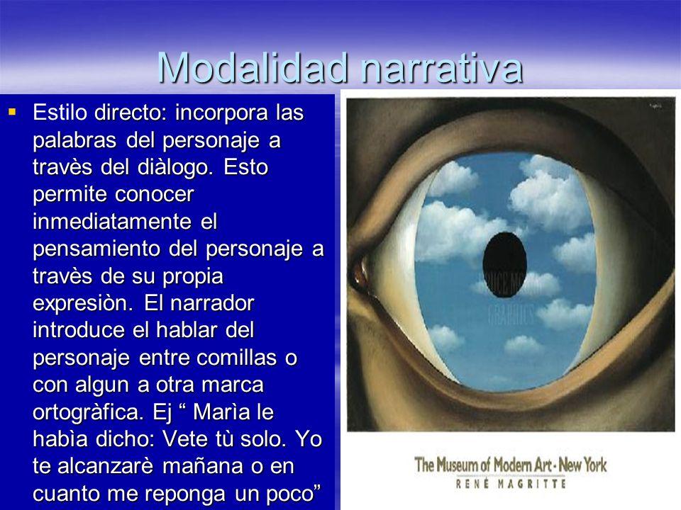 Modalidad narrativa