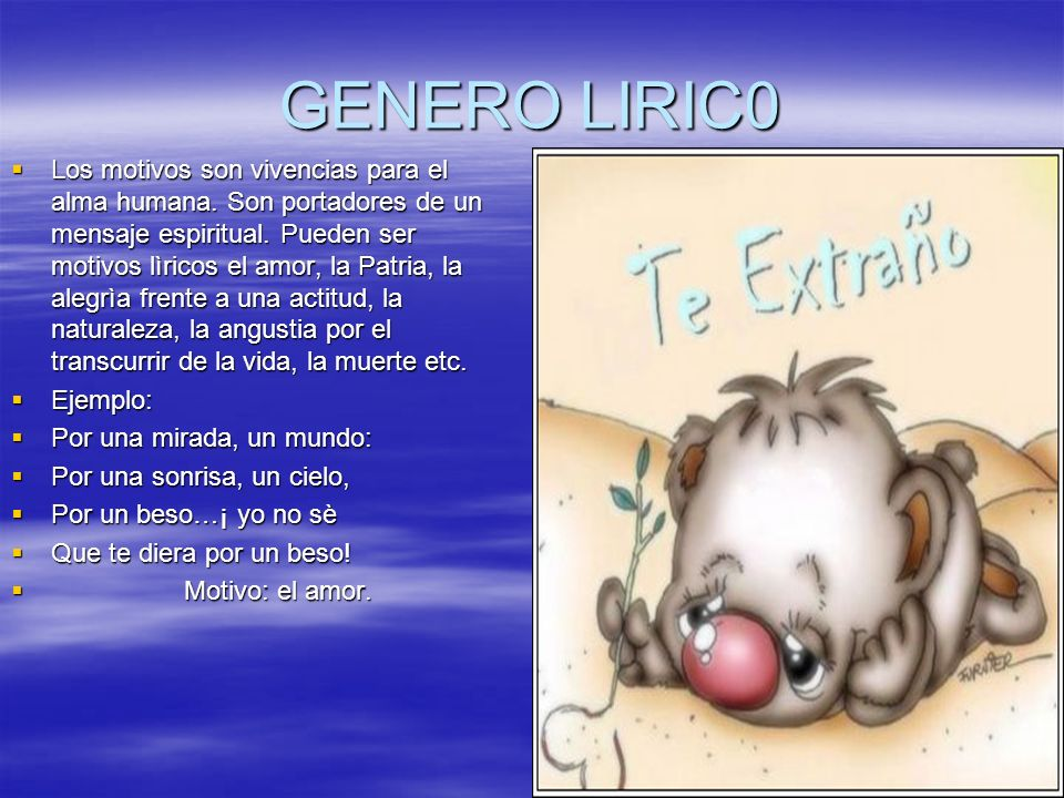 GENERO LIRIC0