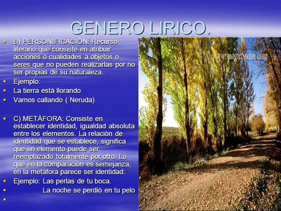 GENERO LIRICO.