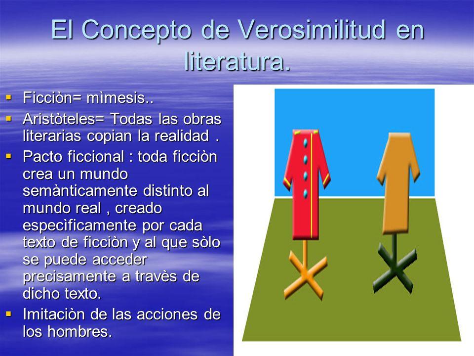 El Concepto de Verosimilitud en literatura.