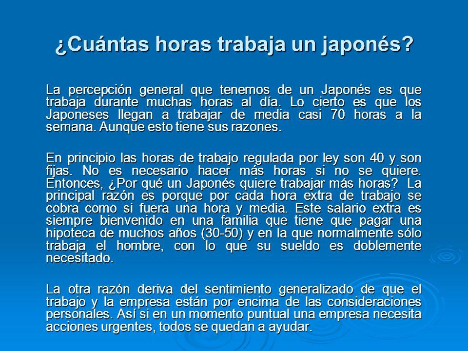 ¿Cuántas horas trabaja un japonés