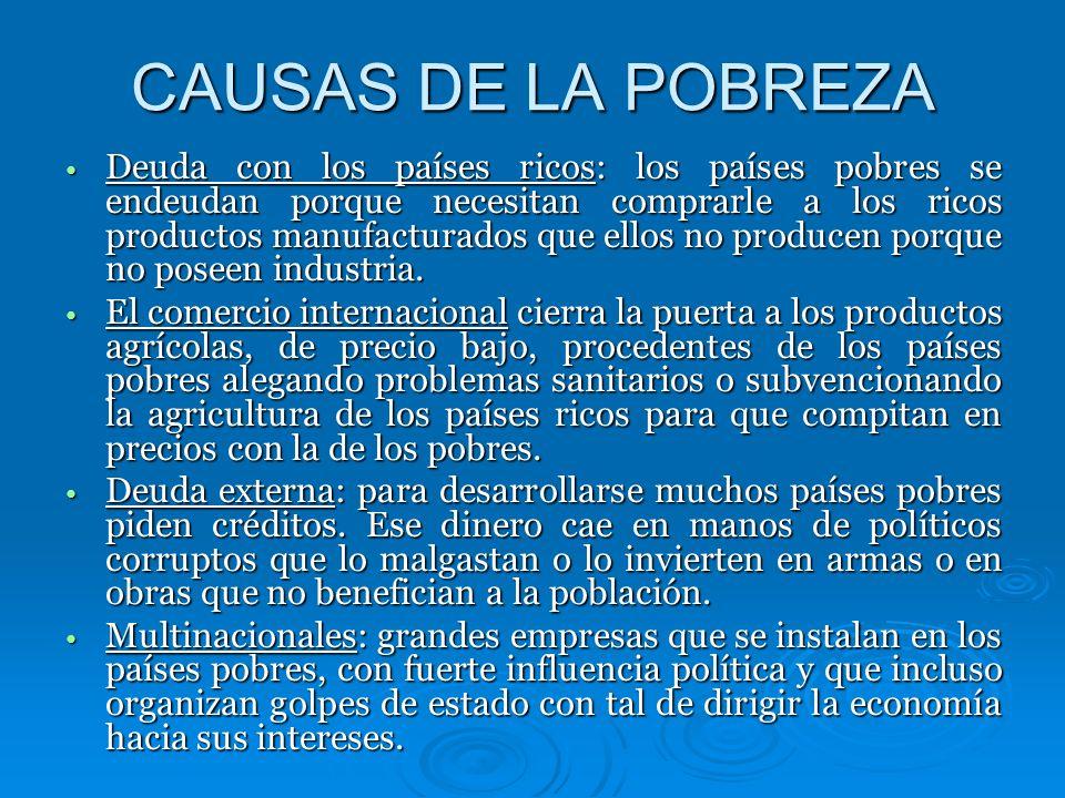 CAUSAS DE LA POBREZA
