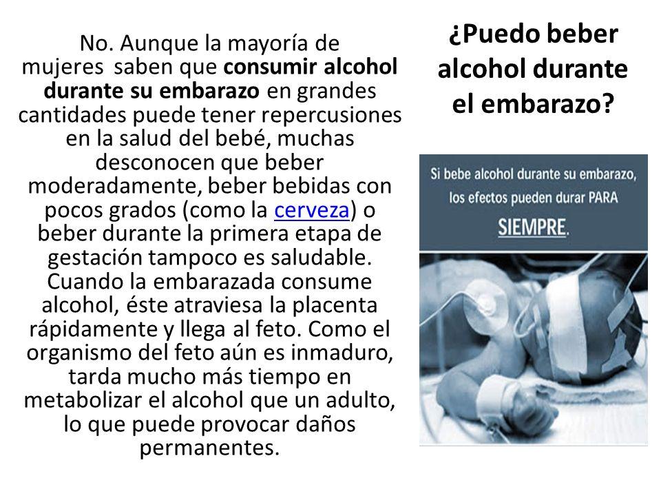 ¿Puedo beber alcohol durante el embarazo