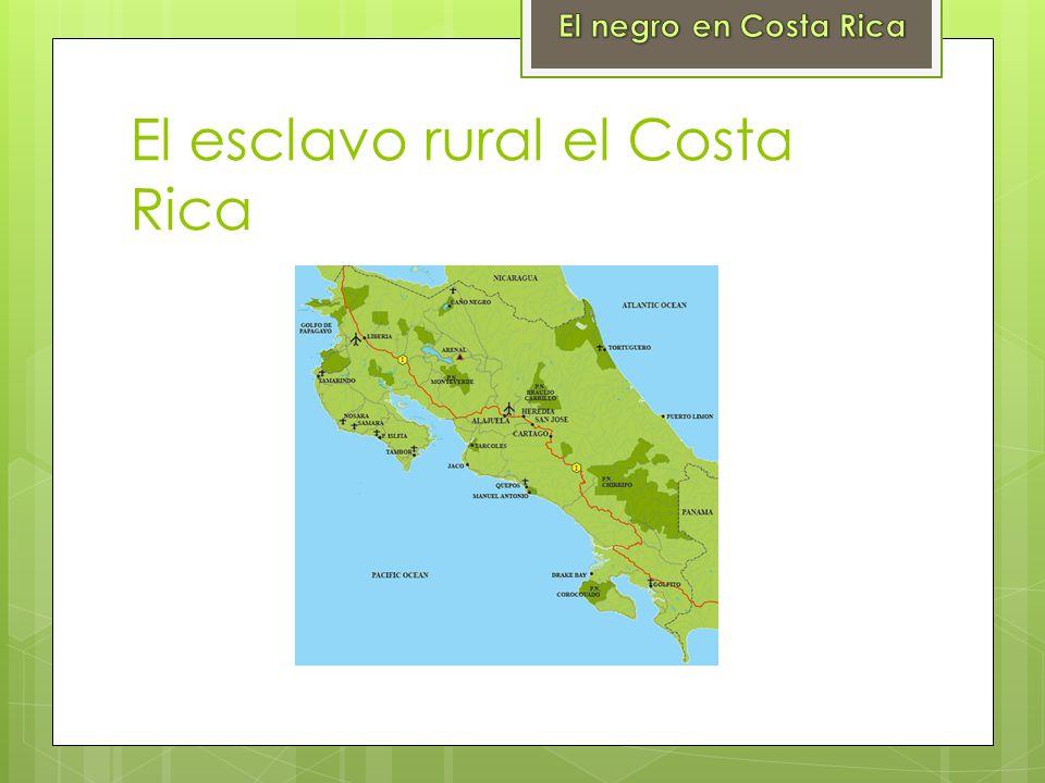 El esclavo rural el Costa Rica