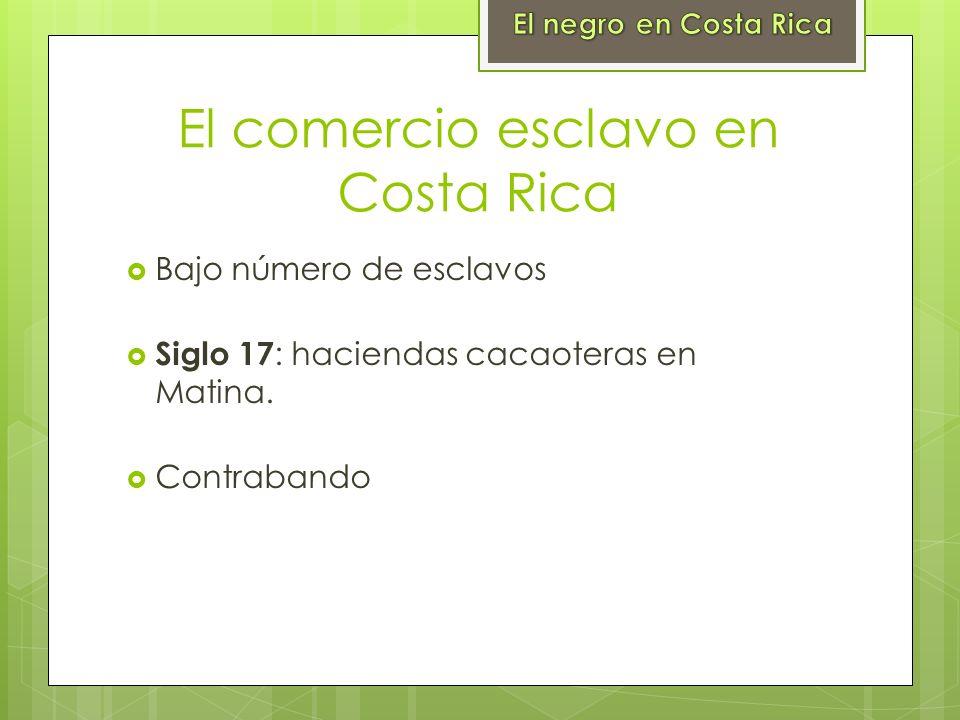 El comercio esclavo en Costa Rica