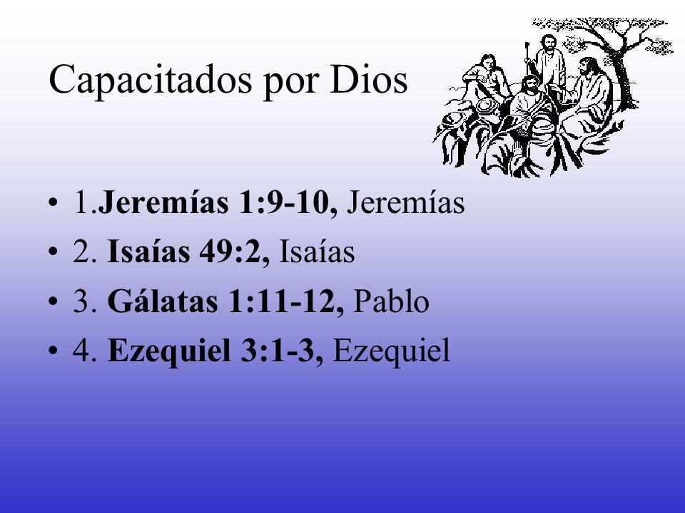 Capacitados por Dios 1.Jeremías 1:9-10, Jeremías