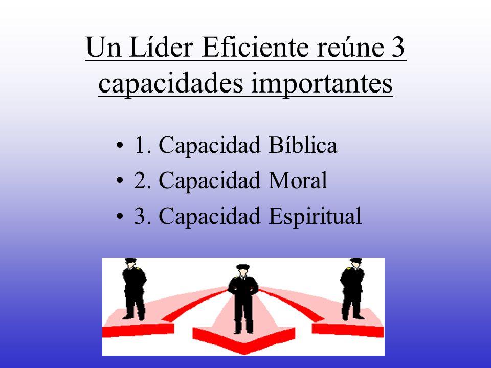 Un Líder Eficiente reúne 3 capacidades importantes